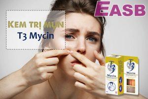 Tìm hiểu về gel trị mụn trứng cá T3 Mycin