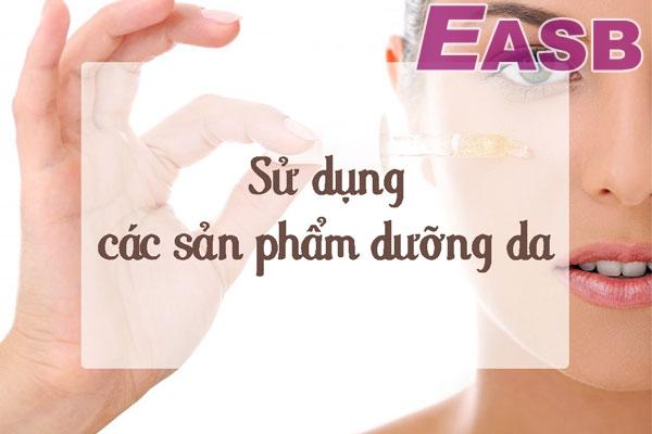Sử dụng các loại kem dưỡng da