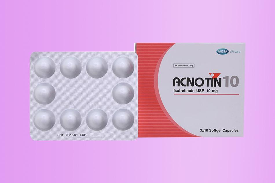 Acnotin 10mg điều trị mụn trứng cá