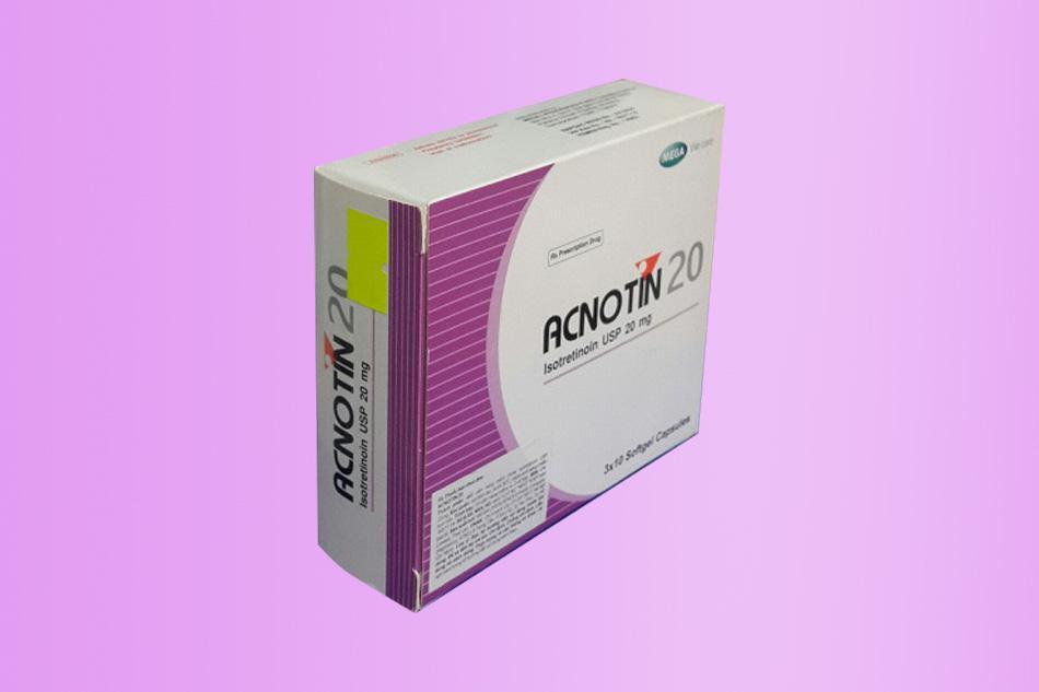 Hình ảnh hộp thuốc Acnotin 20mg