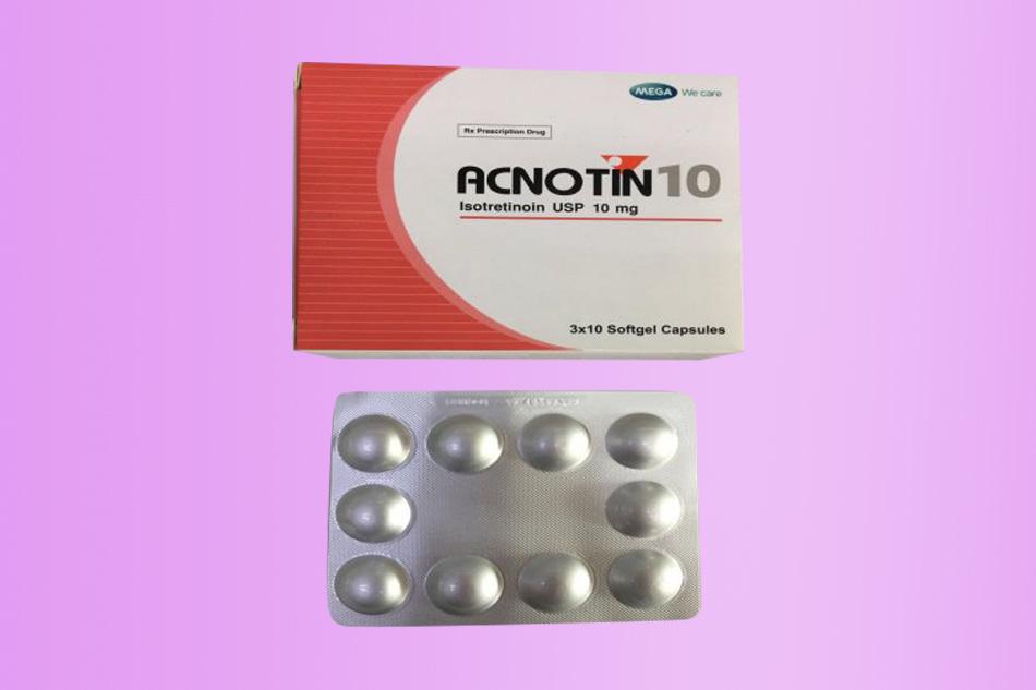 Hình ảnh hộp thuốc Acnotin 10mg