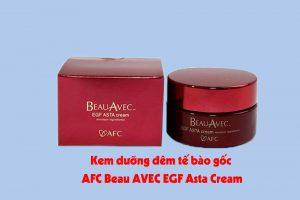 Hình ảnh kem dưỡng đêm tế bào gốc AFC Beau AVEC EGF Asta Cream