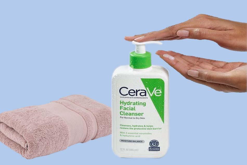 Hướng dẫn sử dụng Sữa rửa mặt Cerave Hydrating Cleanser