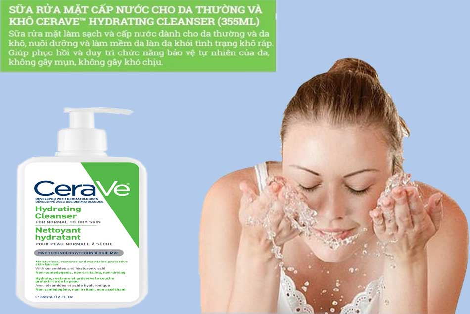 Review Trải nghiệm khi sử dụng sữa rửa mặt Cerave Hydrating Cleanser