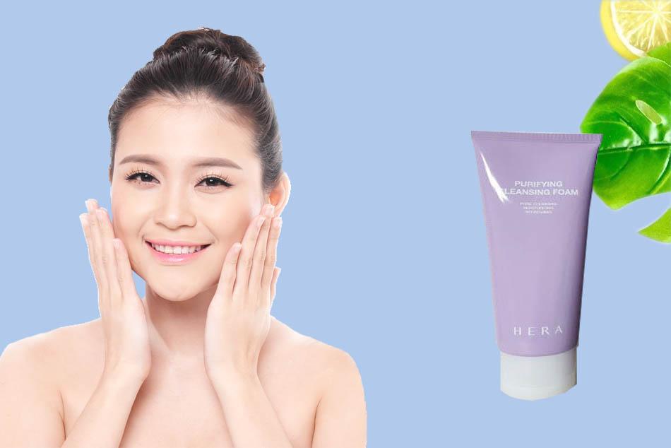 Công dụng của Sữa rửa mặt Hera Purifying Cleansing Foam