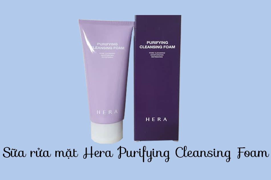 Vỏ và sản phẩm Sữa rửa mặt Hera Purifying Cleansing Foam