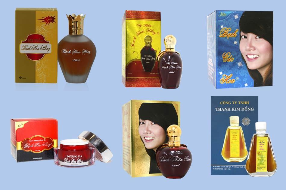Bộ sản phẩm Bạch Hoa Hồng