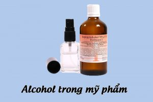 Alcohol trong mỹ phẩm