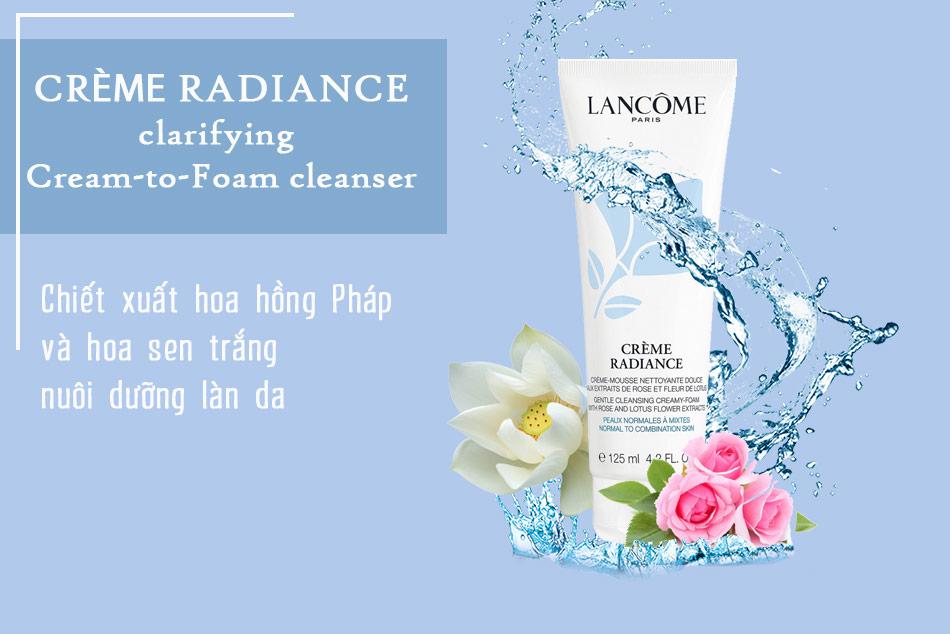 Thành phần Sữa rửa mặt Crème Radiance Clarifying Cream-to-Foam Cleanser