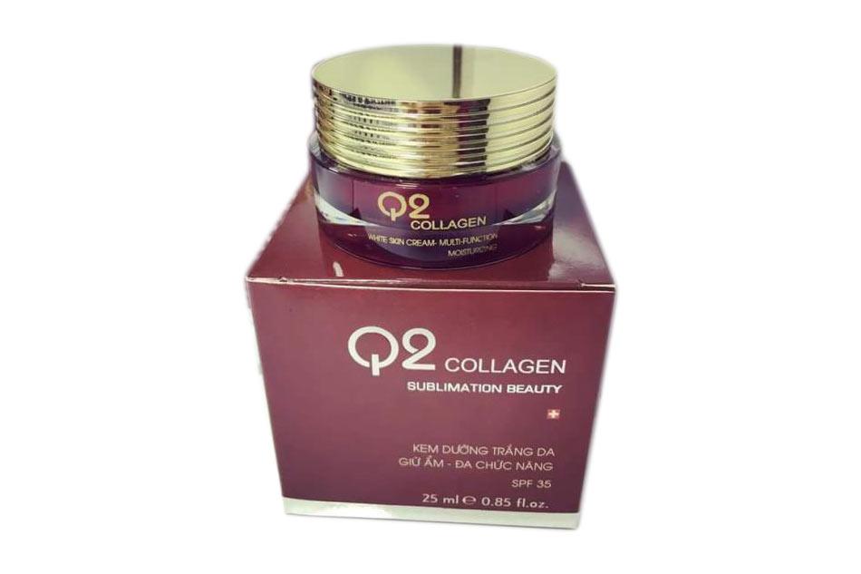 Kem dưỡng da Q2 Collagen hũ màu đỏ