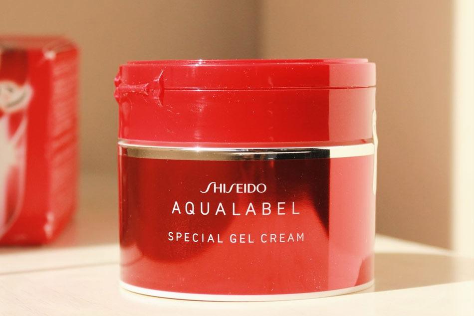 Kem dưỡng da ban đêm dành cho da dầu của Nhật - Aqualabel đỏ